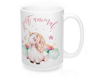 Spirit Animal Coffee Mug, Funny Coffee Mug, Coffee Mug, Spirit Animal Mug, Gift For Her, Coffee Cup, Mug, Unicorn Mug, Funny Mug, Unicorn