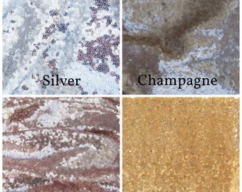 Sequin Table Runner Swatches ~ Free Shipping!