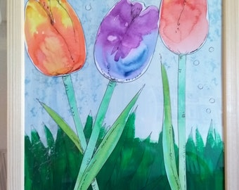 Tulips original painting