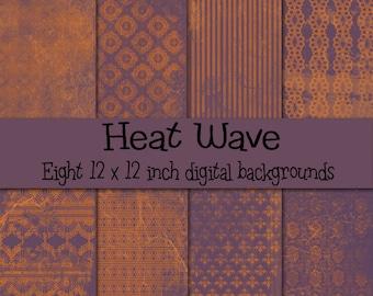 Heat Wave Digital Paper Pack