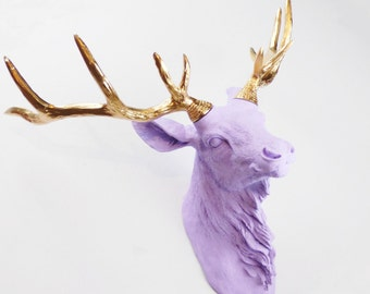 Reindeer Head, Animal Head, Faux Taxidermy, Animal Wall Mount, Faux Deer Head, Deer Wall Mount, Painted Deer Head, Fake Deer Head, Deer Head