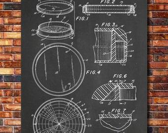 Petri Dish Patent Print Art 1961