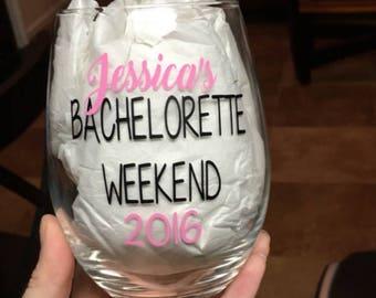 Bachelorette party wine glass. Bachelorette weekend. Bachelorette party. Bachelorette party ideas. Bachelorette.