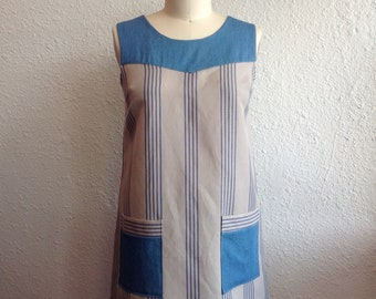 SALE Striped linen and cotton sun dress Sz 8/10