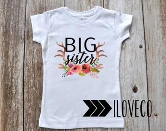 BIG SISTER  T-shirt second Pregnancy announcement
