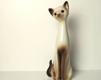 Mid Century Siamese Cat Ornament Large