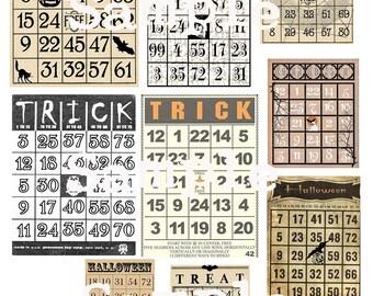 Bingo Boo Collage Sheet