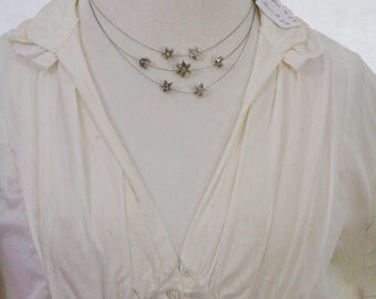 Kirks Folly Invisible Wire Moon and Stars Necklace