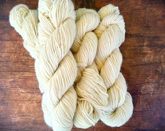 Mountain Mohair - Green Mountian Spinnery, Edelweiss, cream wool,  natural white undyed worsted weight wool yarn