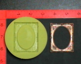 Silicone Mold Flower Frame used with wax, Candle, gypsum, resin, hot glue, soap, clay, concrete, metal