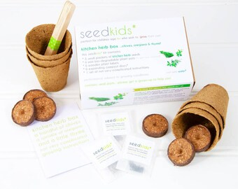Seedkids* Grow Your Own Kitchen Herb Box / Seed Kit