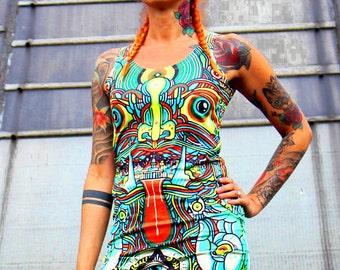 Totem dress, psyhedelic dress