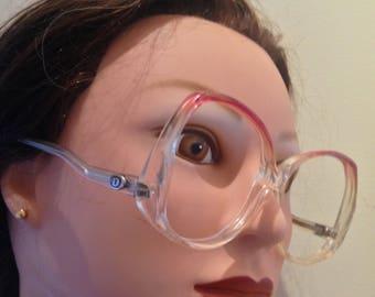 Rare Vintage 70s Christopher D Designer Sunglasses/ Mod Eyeglasses/ Oversized Plastic Frames/  Made In Italy