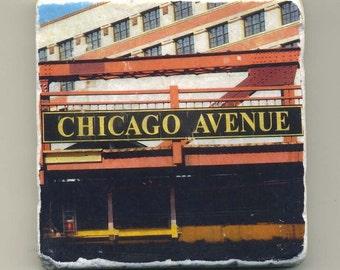 Chicago Avenue Bridge -  Original Coaster