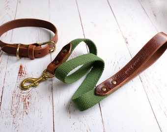 Leather Dog Collar & Lead Set, Dog Collar, Dog Lead, Dog Leash, Custom Lead and Collar, Pet Collar, Dog Accessories