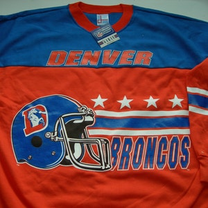 Denver Broncos vintage  NFL  football sweatshirt by Garan made in the USA New with tags