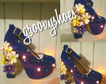 Tangled light up lantern heels. Ladies shoes . Disney bounding