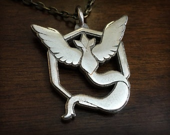 Pokemon Go Team Mystic 3D Printed Stainless Steel Pendant and Keychain