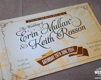Vintage Ticket Wedding Invites