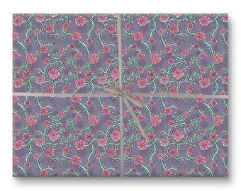 Floral Vines Gift Wrap - Wrapping Paper Sheet