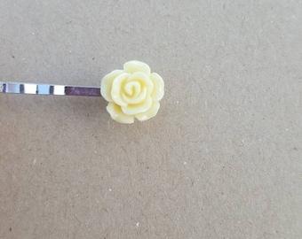 White Hair Pins (set of 2), hair pins, flower pins,girl hair, hair pin, bobby pin