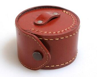 Vintage Leather Case//Filter Case//Costume Accessories