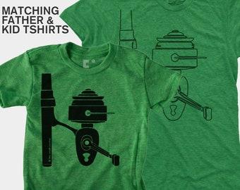 Matching Dad and Me Shirt - Fishing Reel