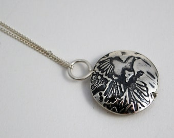 Small Sterling Silver Magpie Capsule Pendant