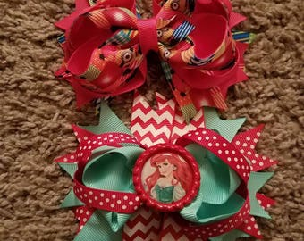 Ariel and Minions hairbows
