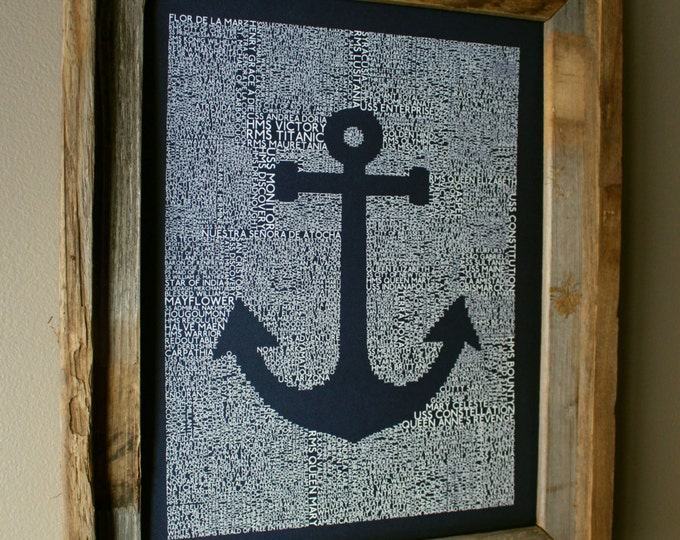 Maritime History of the World Anchor Print (Dark Blue) - Unframed