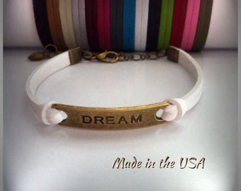Dream bracelet, Charm bracelet, Friendship bracelet. Dream charm bracetet. Inspiration Bracelet. Gift for her.