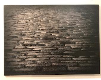 """Wood Placemat by VeniEtiamPhotography - """"Cobblestone"""""""