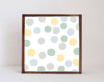 polka dot nursery, geometric print, woodland nursery, gender neutral baby, nursery art, nursery decor, childrens wall decor, redtilestudio