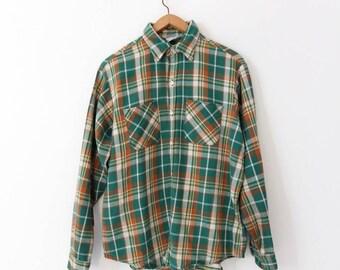 vintage Big Mac flannel shirt, plaid flannel shirt XL