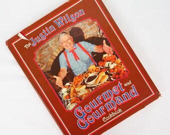 Vintage 1984 Justin Wilson Gourmet & Gourmand Cajun Cookbook Louisiana Seafood South Louisiana Cooking,   Vintage Cajun Louisiana Cookbook