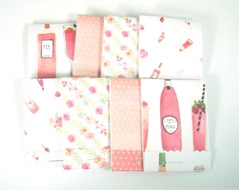 Set of 20 Matchbook Notepads Mini Note Pads in Rose' All Day