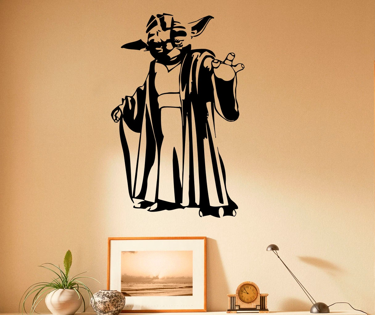 Master Yoda Wall Decal Vinyl Stickers Star Wars Home Interior