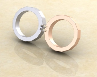 Gay pride- Wedding bands -FRENCH LOVE COLLECTION