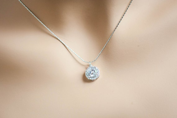 Single diamond necklace one stone necklace diamond pendant single diamond necklace one stone necklace diamond pendant necklace single gem necklace diamond solitaire necklace halo necklace cz halo aloadofball Image collections