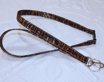 Animal Print Lanyard - Breakaway Lanyard - Badge Holder - Teacher Lanyard - Key Lanyard - Teachers Gifts