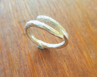 Sterling silver wrap around Twig ring