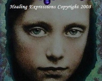 AWAKENING altered art collage therapy recovery ATC ACEO PRINT zne