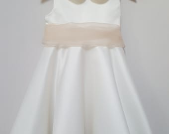 Adele Flowergirl dress, ivory flowergirl dress, flower girl dresses, bridesmaids, christening dress,