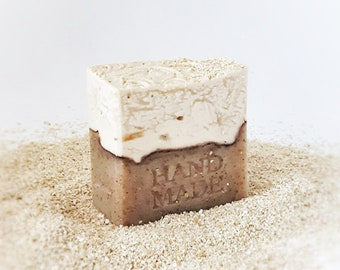 LEPTIS  Almond & Oatmeal Soap - Artisan soap - Handmade Soap - Handcrafted Soap - Natural Soap - Almond Oatsmeal Soap