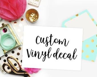 Custom Decal Etsy - Custom vinyl decals etsy