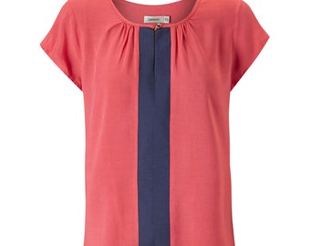 Lexi Short Sleeve Top - Coral