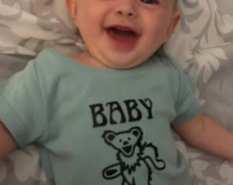 Baby Bear- grateful dead onesies and shirts