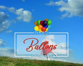 45 Ballon photo overlays, PNG overlays