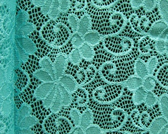 Daisy Floral Pattern Stretch Lace (4 Way Stretch Lace) | Multiple Colours