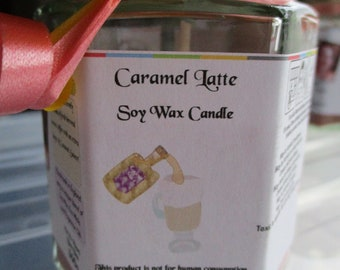 Caramel Latte Scented Soy Wax Candle 300g